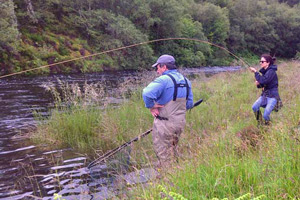 river alness salmon while trout fishing