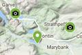 nc500 fishing map - pike lochs