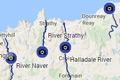 nc500 fishing map - salmon rivers