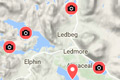 nc500 fishing map - brown trout lochs and rivers