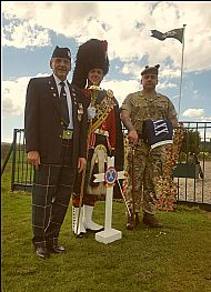 Rifleman Alex Maxwell, Wo2 (DM) John McQuat, GSM Alex McBroom.