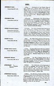 Confirmation of Agnes Steedman's Estate 1882