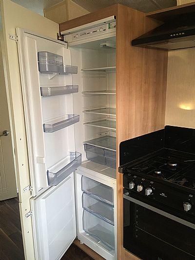 kitchen fridge and cooker