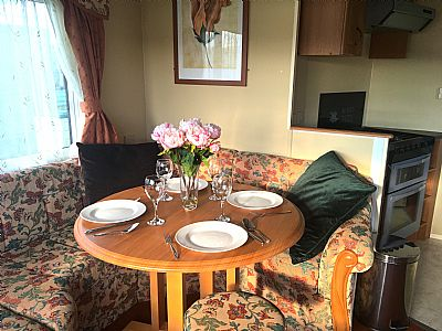 dining area and cooker