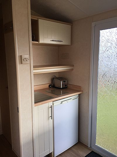 fridge and entrance