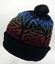 Lindisfarne bobble hat - black