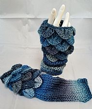 Dragon Mitts - denim