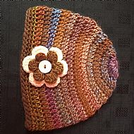 Flower Beanie (brown mix)