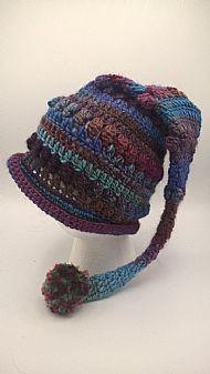 pixie hat - mixed blues
