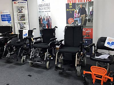 some of the power chairs on display at city mobility