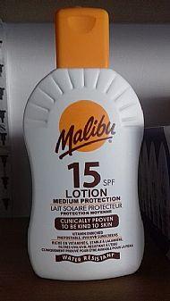 Sun tan lotion factor 15