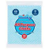 All purpose blue cloths - 10 pk