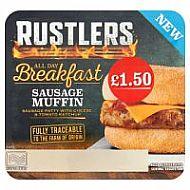 Rustlers all day breakfast muffin