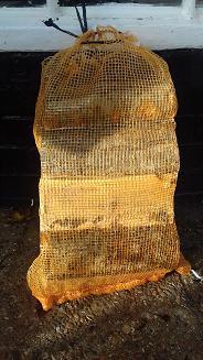 Bag of seasoned logs