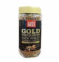 Gold freeze dried coffee