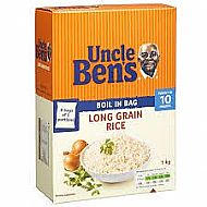 Uncle Bens boil in bag rice
