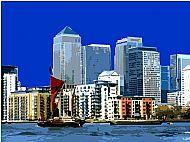 London's Docklands River Thames