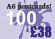 100 Glossy A6 Postcards