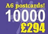 10000 Glossy A6 Postcards