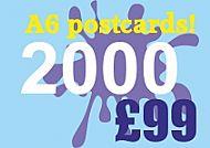 2000 Glossy A6 Postcards