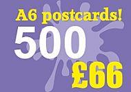 500 Glossy A6 Postcards