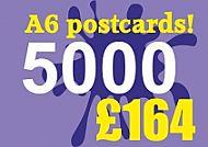 5000 Glossy A6 Postcards