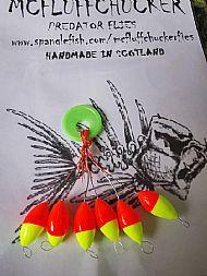 6 pack tick indicators neon orange / lime