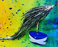 12/13 inch purple silver black mix
