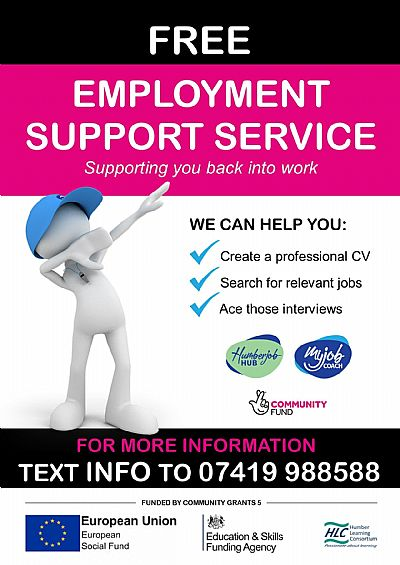 free employment support service image and link