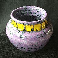 Speckled Violet Vase