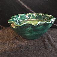 Green Wavy Bowl
