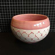 Pink Trellis Bowl