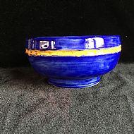 Cobalt Relief Bowl