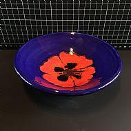 Cobalt Poppy Dish