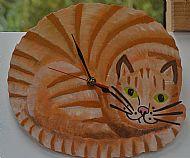 ginger cat clock