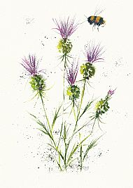 bee and thistles 2