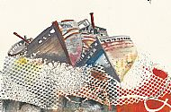 Old boats @ Salen abstract