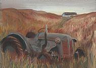 old tractor on skye