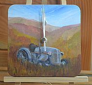 old tractor clock