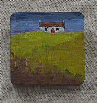 cottage in field brooch