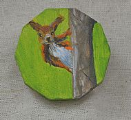 red squirrel brooch