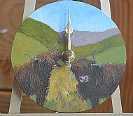 highland coo clock
