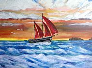 Print Sailing Ship