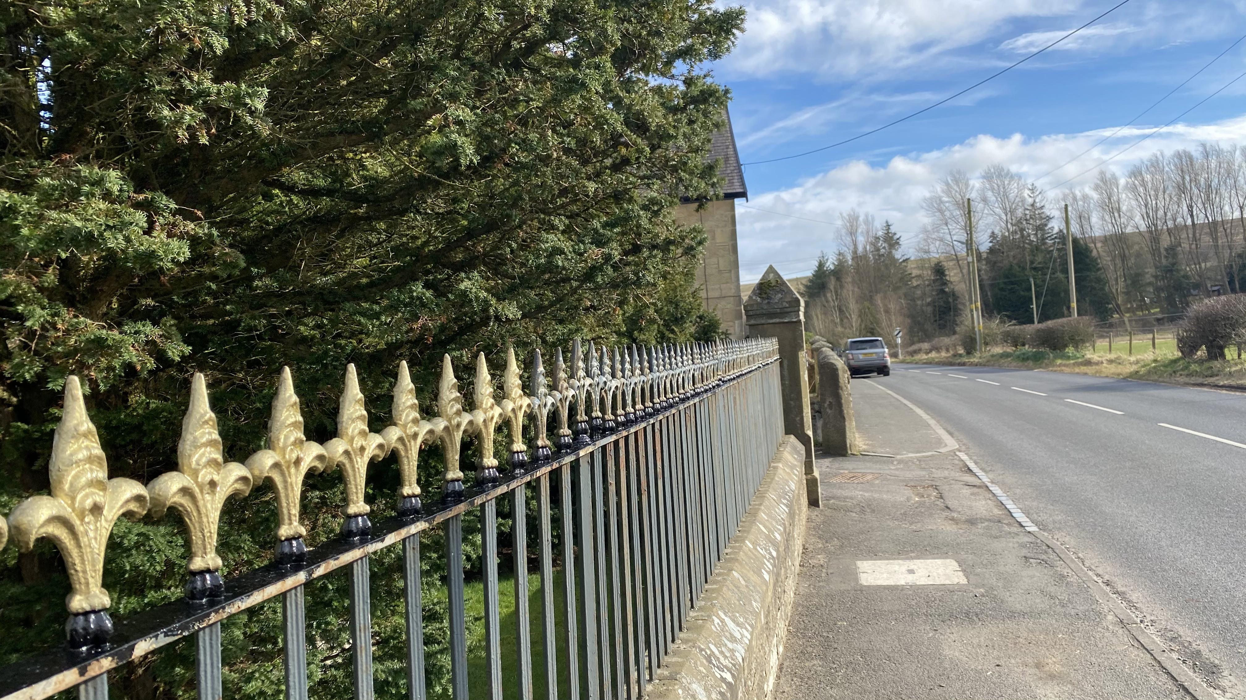 cemetery railings before