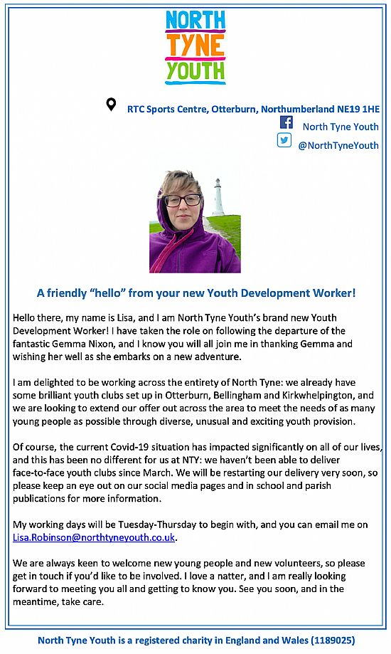 north tyne youth letter
