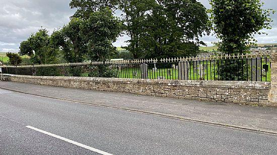 photo of cemetery railings