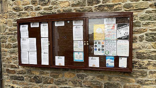 photo of lockup lane notice board