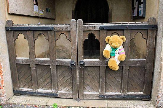 big ted stuck in a gate