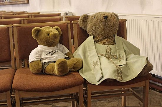 big ted with a bear wearing robes