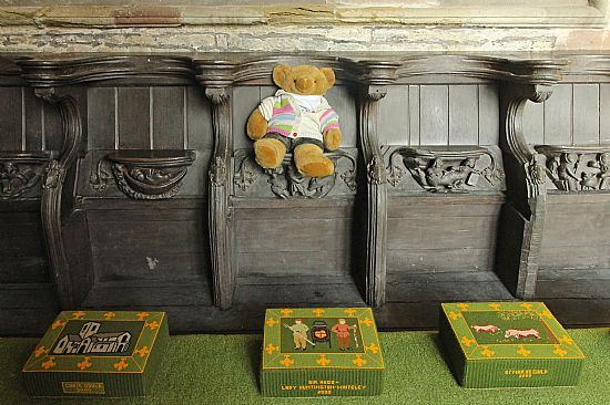 big ted sitting on a misericord